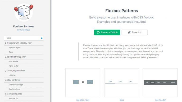 Шаблоны Flexbox: универсальная библиотека CSS-кодов Flexbox