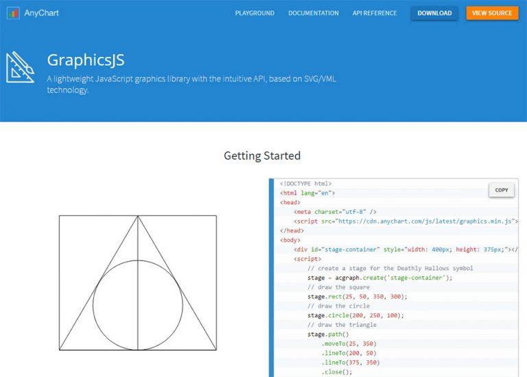 GraphicsJS позволяет создавать любую веб-графику, которую вы можете себе представить
