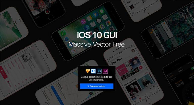 Ультимативный графический интерфейс iOS 10 для Sketch, Photoshop и Adobe XD