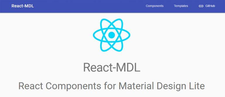 React MDL Объединяет React с Material Design Lite