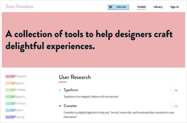"""Получить обширную коллекцию инструментов дизайна на """"Сан-Франциско"""""""