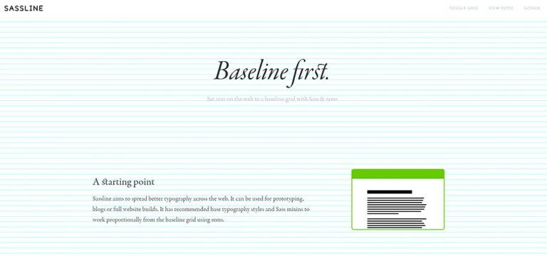 Создание базовых сеток в Интернете с использованием Sassline