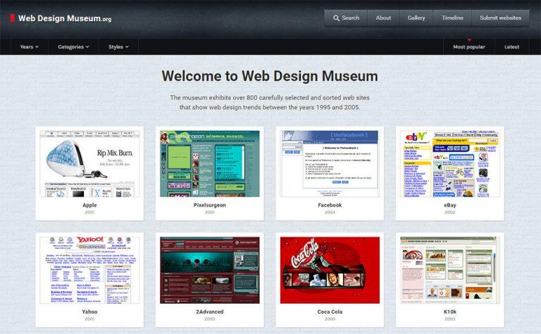 Этот сайт показывает вам тенденции веб-дизайна из прошлого
