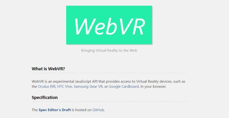 Принесите опыт VR в ваш браузер с WebVR