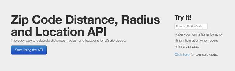 Бесплатный почтовый индекс и Radius API для веб-разработчиков