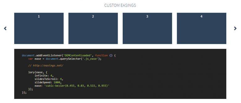 Слайдер Lory Carousel с поддержкой CSS Animation & Touch