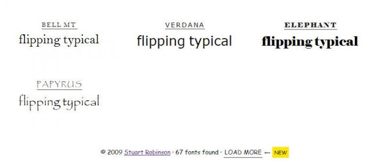 Предварительный просмотр и сравнение шрифтов в вашем браузере с переключением типичных