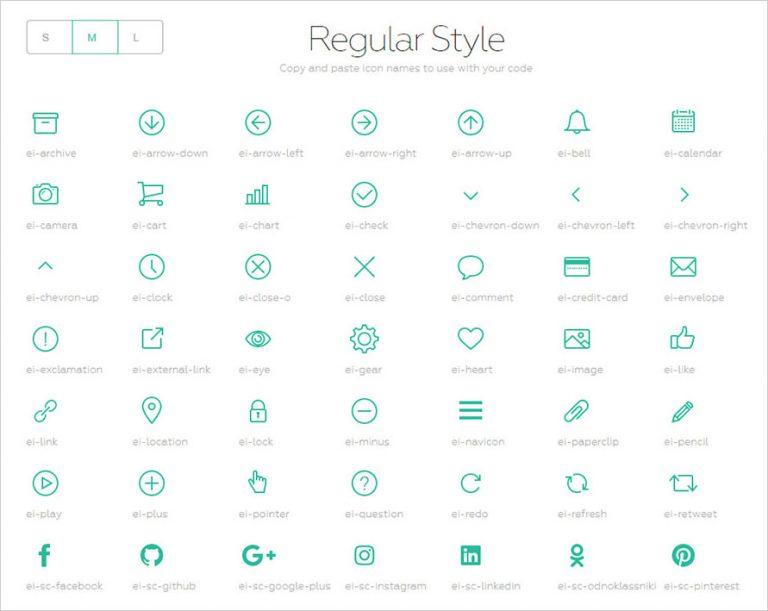 Evil Icons – чистый набор иконок SVG Line для веб-разработчиков