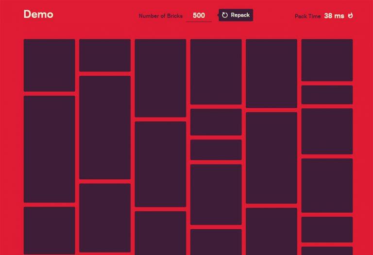 Создавайте макеты быстрой кладки с помощью Bricks.js
