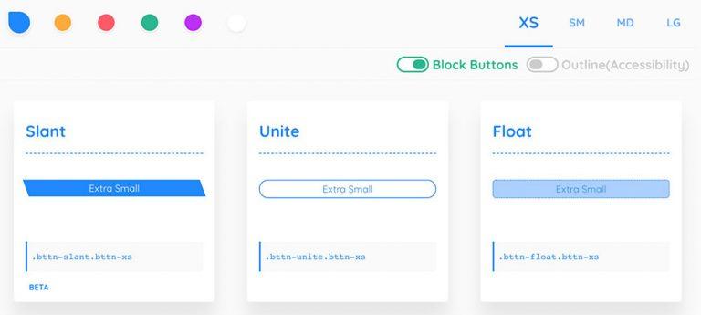 Bttn.css – Удивительные кнопки CSS до 4Kb