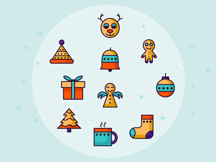 40+ бесплатные рождественские иконки, чтобы украсить ваш дизайн