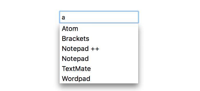 Как создать Datalist, который мгновенно доступен для поиска