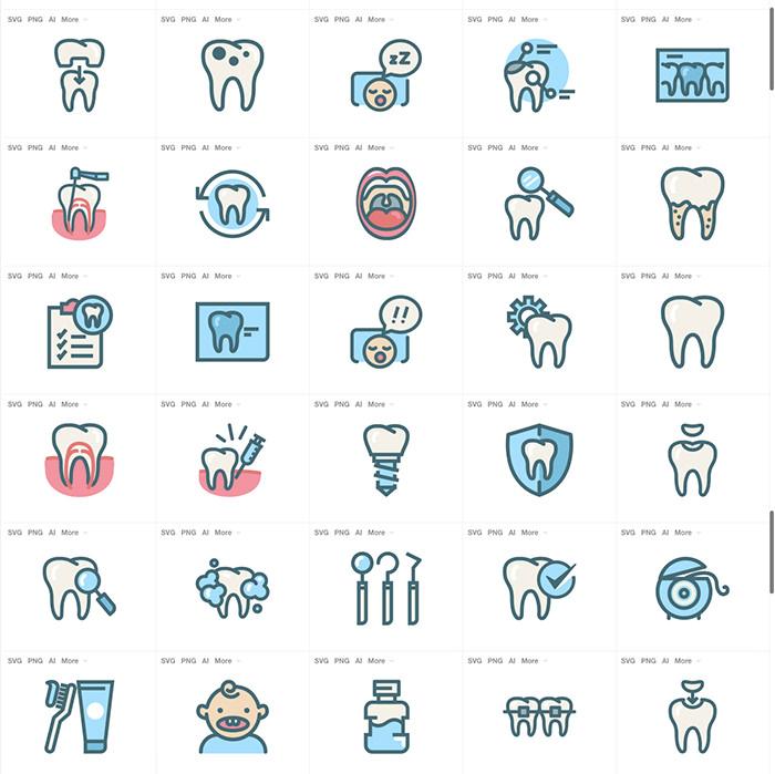 30 бесплатных медицинских наборов иконок для скачивания