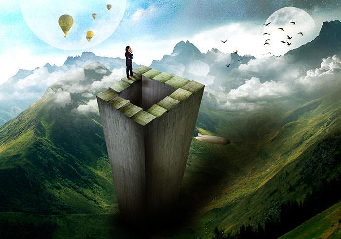 Учебник по манипулированию фотографиями: создание иллюзии сюрреалистической петлевой лестницы