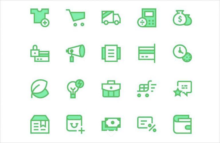 20+ бесплатных наборов иконок для электронной коммерции для скачивания