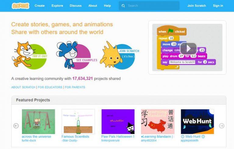 Как научить детей писать на MIT Scratch Language
