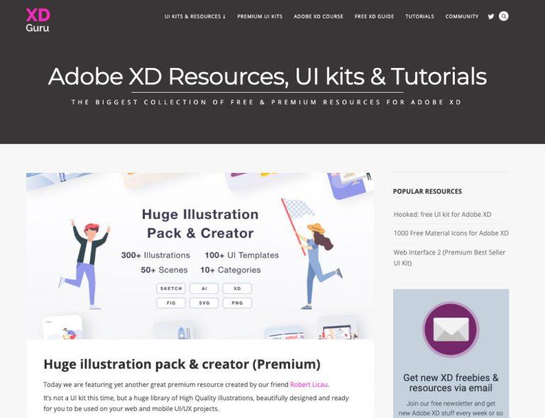 XD Guru – ресурсный сайт, который должны знать все пользователи Adobe XD