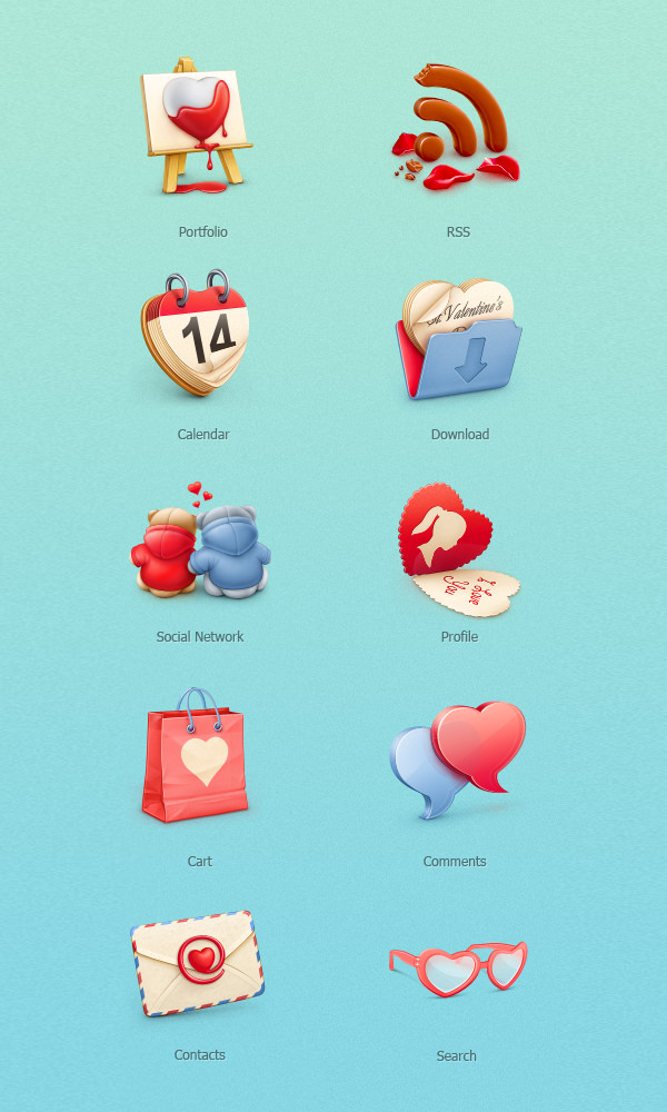 12 Наборов Дня святого Валентина для скачивания