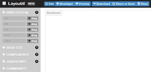 Как создать макеты начальной загрузки HTML с LayoutIt!