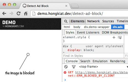 Как обнаружить блокировщик рекламы на вашем сайте