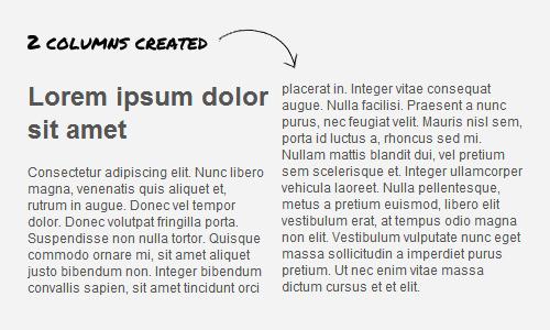 Расположение нескольких столбцов (как в журнале) с помощью CSS3