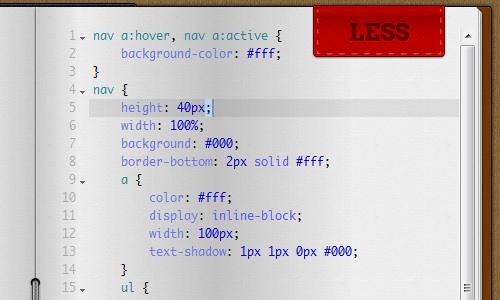 Как конвертировать старый CSS в LESS