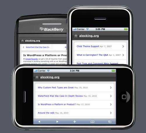 28 высококачественных мобильных тем для WordPress