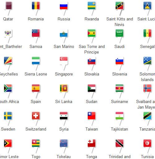40 бесплатных наборов иконок флаги мира