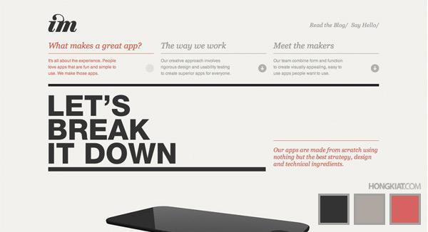 30 красивых трехцветных сайтов для вашего вдохновения