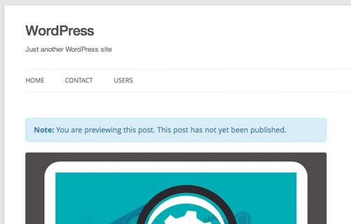 Управление контентом, который вы видите в режиме предварительного просмотра WordPress [WordPress Tip]