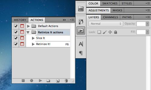 Retinize It – Photoshop Action для оптимизации изображений для iOS