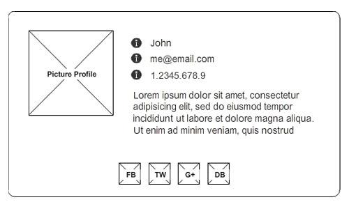 Sass Tutorial: Создание онлайн vCard с Sass & Compass