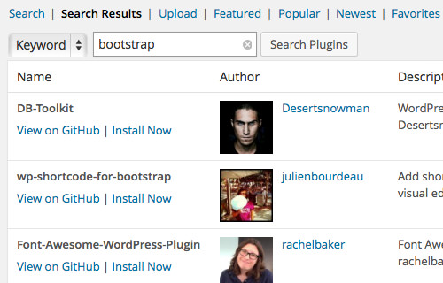Найти и установить плагины WordPress через Github