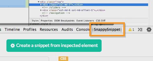 Скопируйте коды с веб-сайтов легко с SnappySnippet