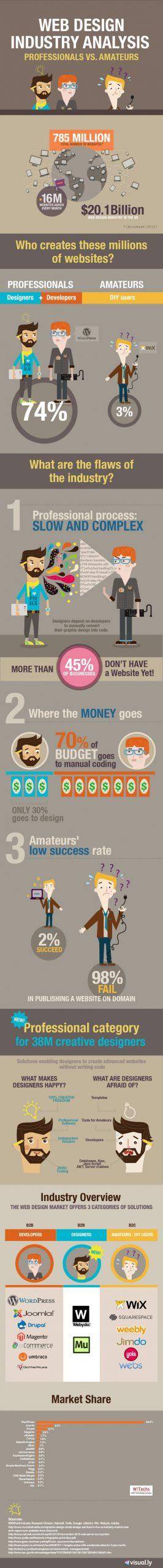 Анализ индустрии веб-дизайна – профессионалы против любителей [Infographic]