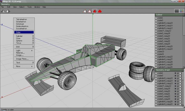 10+ бесплатное программное обеспечение 3D моделирования для загрузки