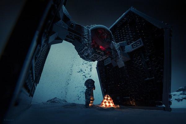 15 Удивительных Lego Re-Imagined Сцены Звездных войн