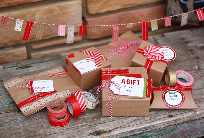 20+ идей рождественской подарочной упаковки для вашего вдохновения
