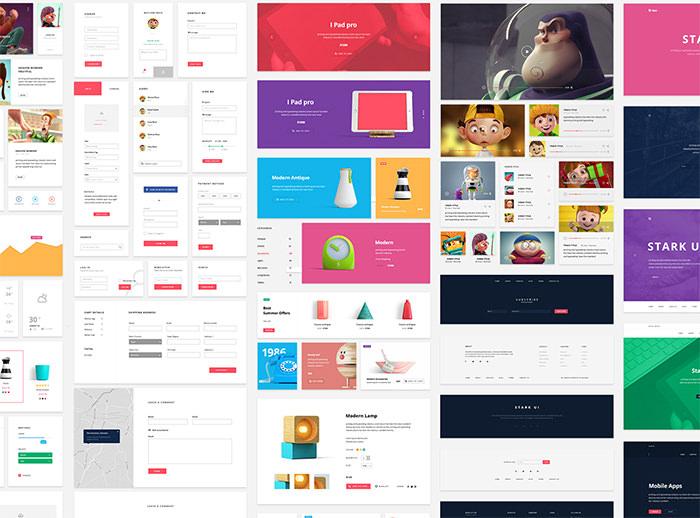 50+ бесплатных наборов пользовательского интерфейса для дизайнеров, Vol.  1
