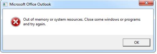 Недостаточно памяти или системных ресурсов [Verified Solution]