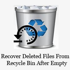 Как вернуть данные (файлы) корзины после удаления с помощью CMD?