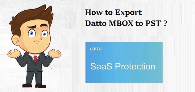 Datto Export to PST – конвертировать Datto Saas Protection в Outlook PST