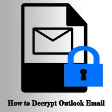 Как удалить шифрование из электронной почты Outlook?