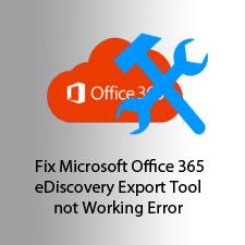 Решение для Microsoft Office 365 eDiscovery Export Tool не удается запустить ошибку