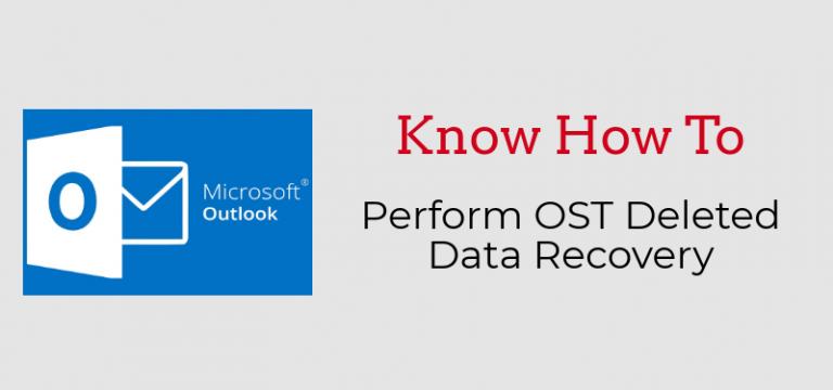Как выполнить восстановление удаленных данных из файла OST?  – Получите свой ответ здесь