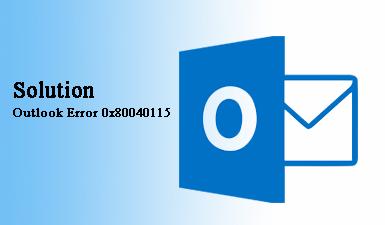 Как исправить ошибку Outlook 0x80040115