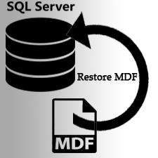 Как восстановить базу данных из файла MDF только в SQL Server?