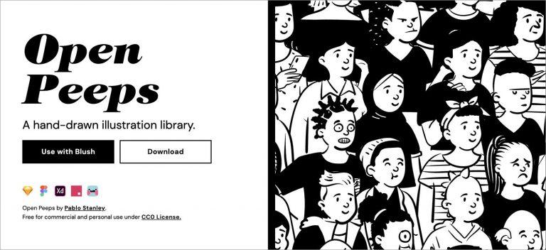 20 сайтов для загрузки бесплатных иллюстраций для дизайнеров