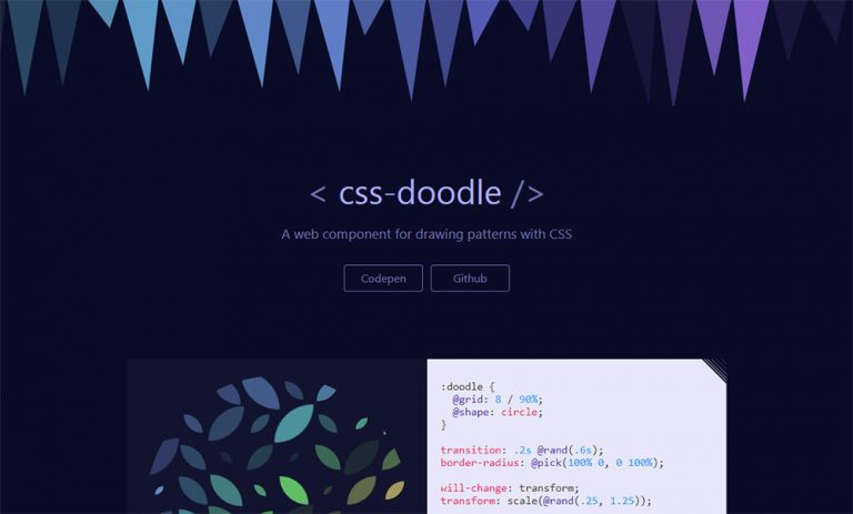Рисование пользовательских шаблонов в CSS с помощью веб-компонента CSS-Doodle