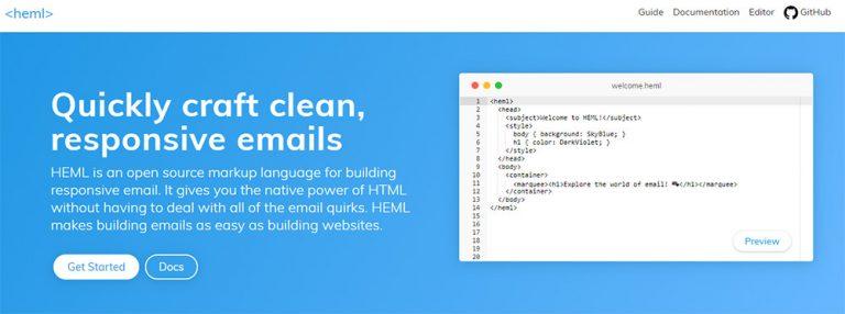 Создавайте шаблоны электронной почты, адаптирующиеся к мобильным устройствам, с помощью HEML